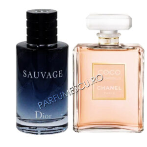 set cadou dior sauvage si coco chanel mademoiselle tester