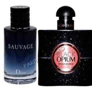 set cadou dior sauvage si yves saint laurent black opium tester