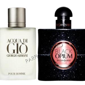 set cadou giorgio armani acqua di gio si yves saint laurent black opium tester