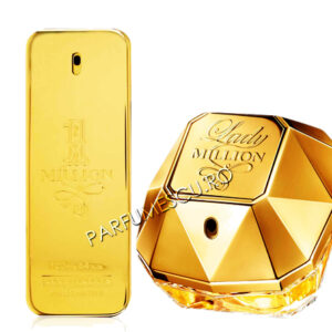 set cadou paco rabanne 1 million si paco rabanne lady million tester