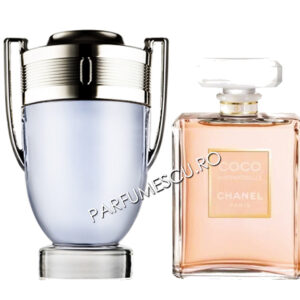 set cadou paco rabanne invictus si coco chanel mademoiselle tester