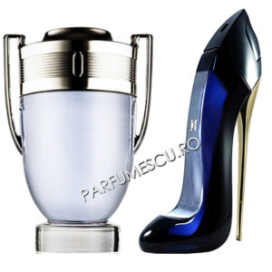 set cadou paco rabanne invictus si good girl carolina herrera tester