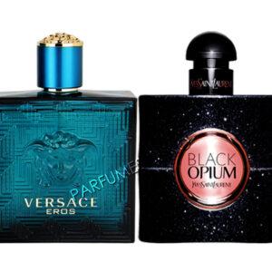 set cadou versace eros si yves saint laurent black opium tester